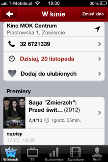 Filmweb Kino & TV - iOS (iPhone, iPod touch)
