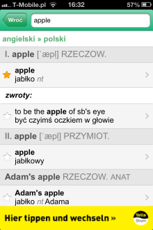 PONS Online Dictionary - iOS (iPhone, iPod touch, iPad)