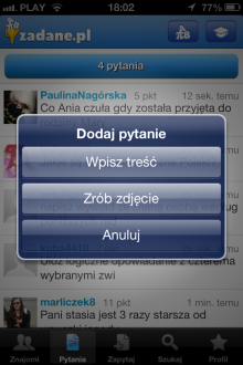 Zadane.pl - iOS (iPhone, iPod touch)