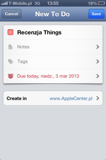 Things - Mac OS X & iOS (iPhone, iPad, iPod touch)