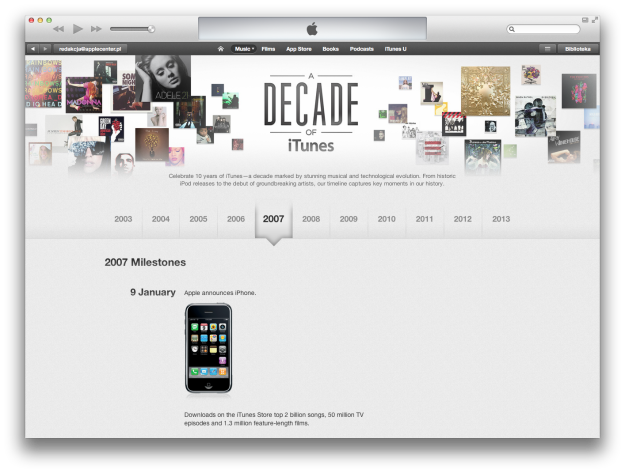 A Decade of iTunes Store