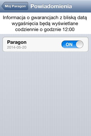 Mój paragon - iOS (iPhone, iPod touch)