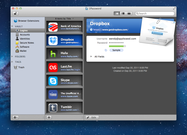 1Password - Mac OS X