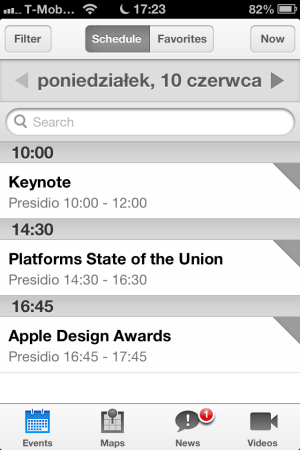 WWDC - iOS (iPhone, iPad, iPod touch)