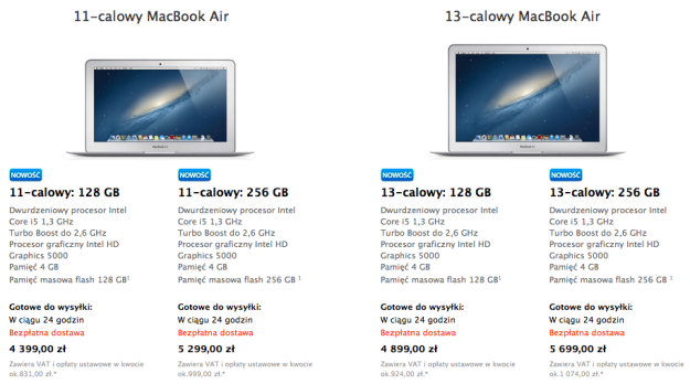 Nowe MacBooki Air