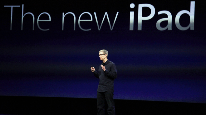 Tim Cook - keynote iPad