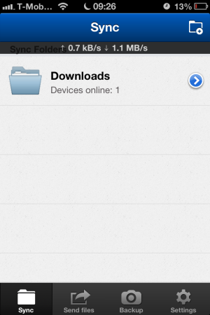 BitTorrent Sync - iOS