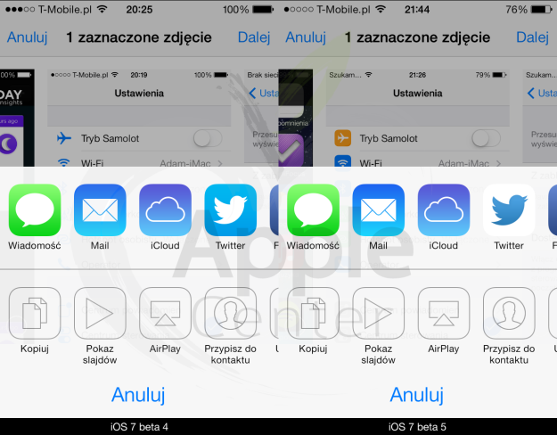 Ikona Twittera - iOS 7 beta 5