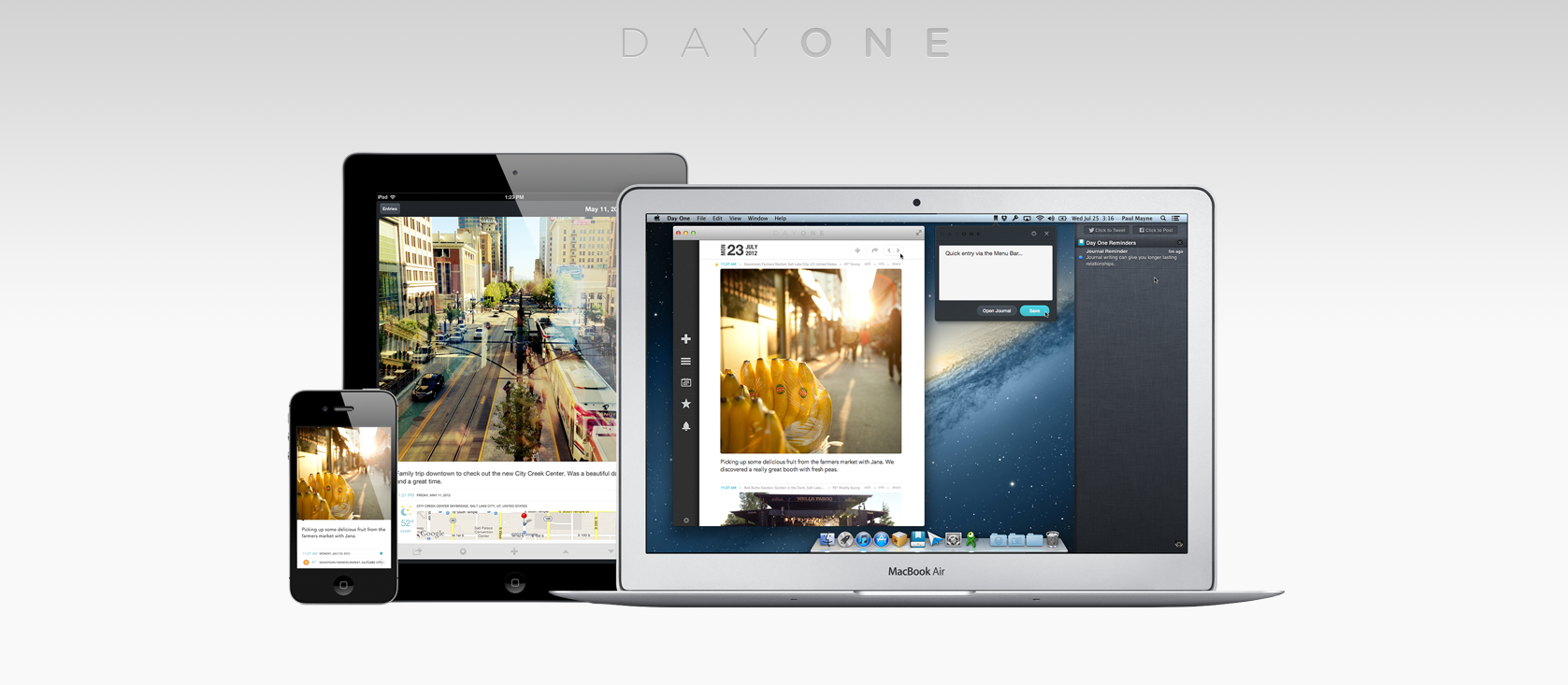 Day One (Journal/Diary) - iOS (iPhone, iPod touch, iPad) & Mac OS X