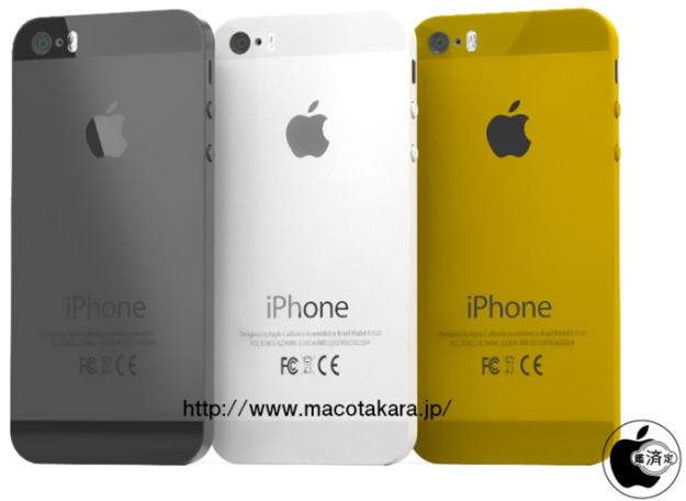 iPhone 5S - black, white, gold