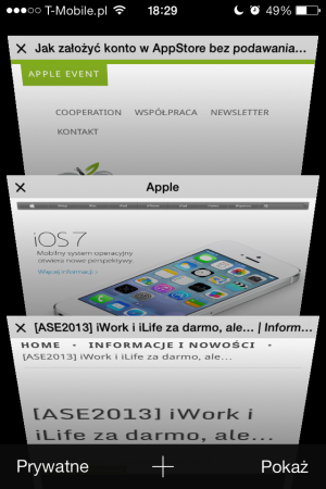 Safari - iOS 7