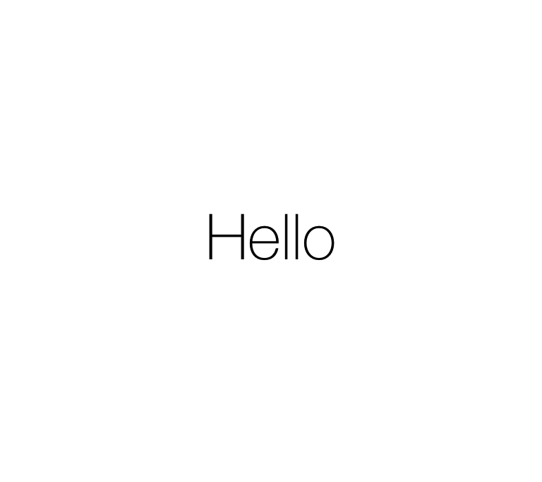 iOS 7 - iPad - Hello