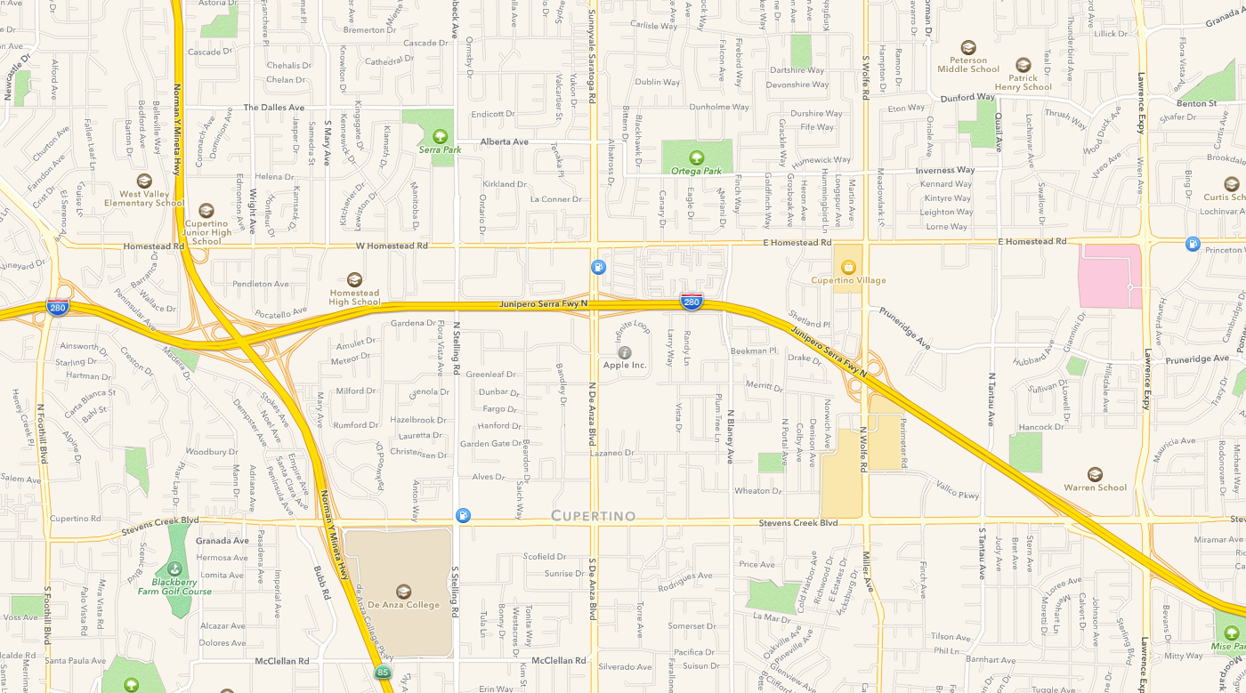Apple Maps - Cupertino