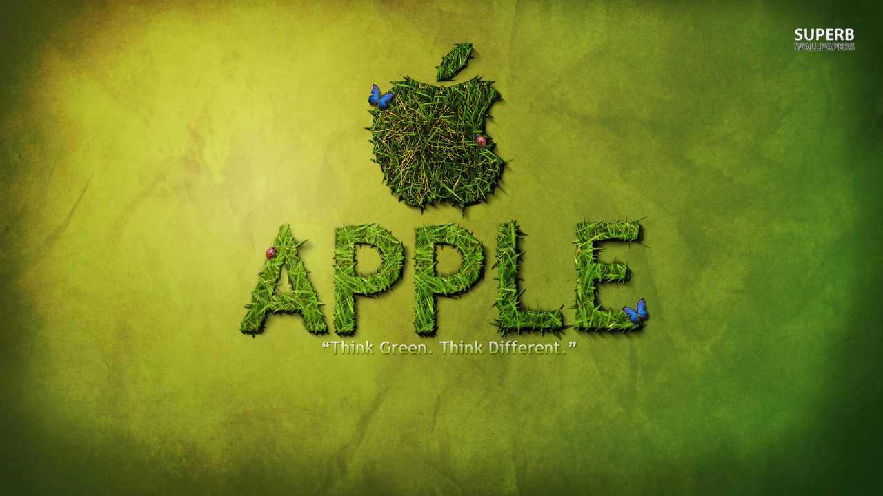 Apple - Thing Green. Thing Different.
