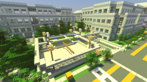 Minecraftowy kampus Apple w Cupertino