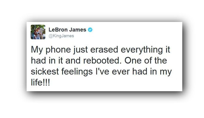 LeBron James o Galaxy Note