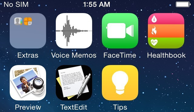 iOS 8 - Preview, Textedit, Healthbook, Tips