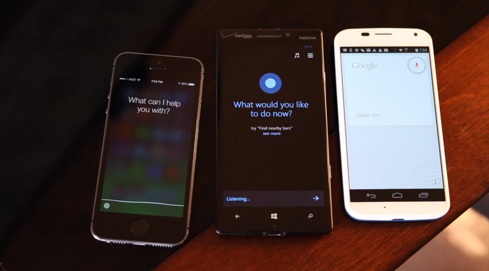 Cortana vs. Siri vs. Google Now