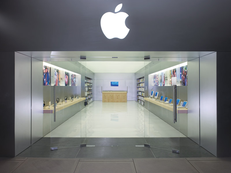 Apple Store, Santa Rosa Plaza, California.