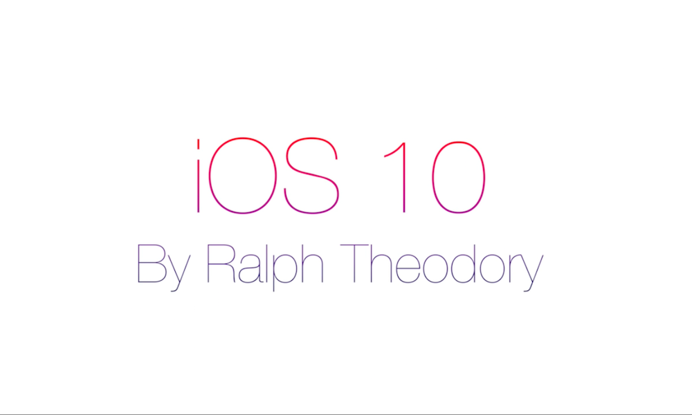 iOS 10 by Ralph Theodory