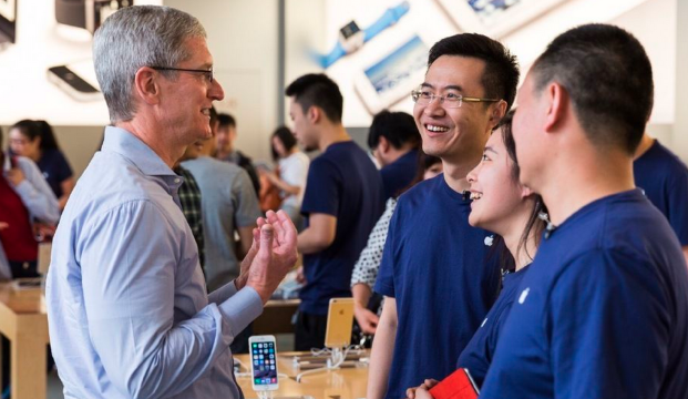 Tim Cook - wywiad Apple Store